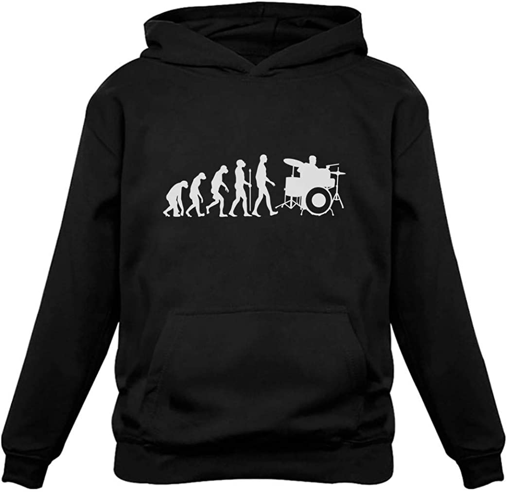 Tstars - Funny Drums Humor Direct sale of manufacturer Evolution Idea Drummer Hoodie Courier shipping free shipping Gift