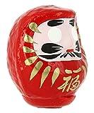 Tierra Zen KP11–Daruma Grande, 9.5x 8x 8cm, Colore: Rosso