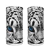 LKKPT Bufanda de Seda de Hielo Blue Eye Snow Leopard Cooling Neck Polaina...