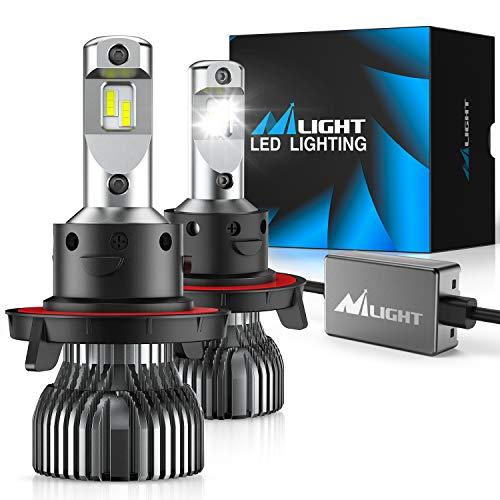 Nilight H13/9008 LED Headlight Bulbs, 70w 14000lm H13 Hi/Lo Beam LED Headlight Bulb 6500k H13 LED Bulb Cool White IP67