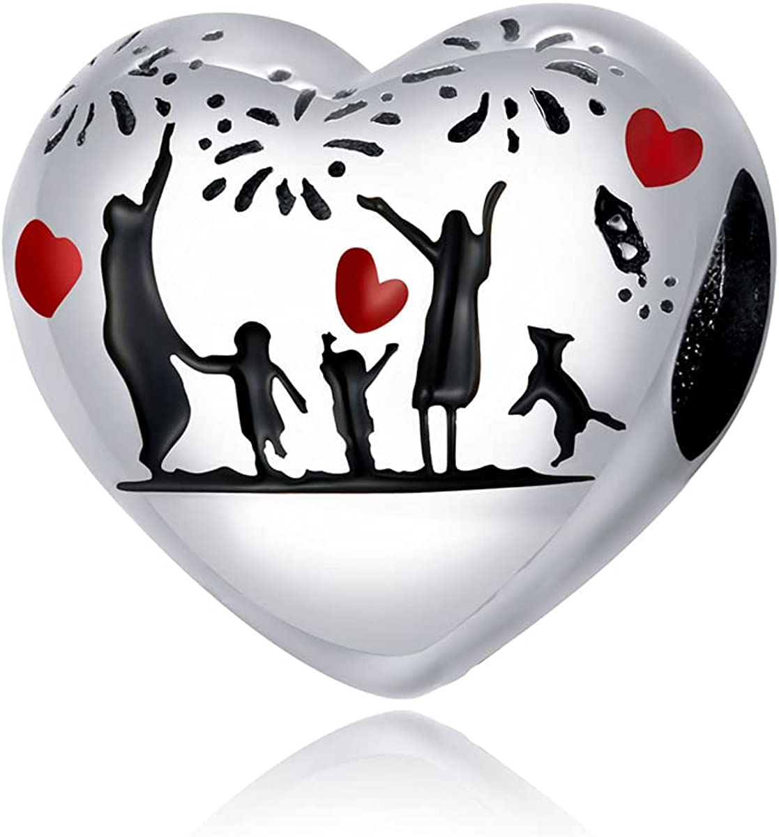 EZ Tuxedo Family and Friends Charms 925 Sterling Silver Bonds of Realtionship Jewelry Collection for Bracelets