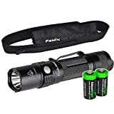 EdisonBright Fenix PD32 2016 Edition 900 Lumen CREE XP-L HI LED Tactical Flashlight with Two CR123A Lithium Batteries bundle