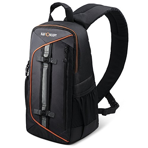 K&F Concept Professional Camera Sling Backpack with Rain Cover and Padded Crossbody Strap Compatible with Camera DSLR & Mirrorless, Lens & Accessories