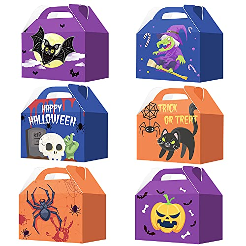 Simmpu Halloween Candy Bags Trick or Treat Goody Bags Happy Halloween Goody Bags for Kids for Halloween Decoration Party Supplies for Boys and Girls