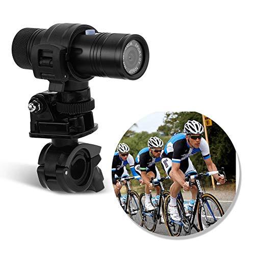 Actiecamera (8 MP, 30 fps, 1080 P HD), helmcamera videocamera met houder, 170 ° groothoek Full HD-opname, op batterijen werkende sportcamera voor motorfiets, scootmobielfiets