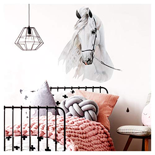 Little Deco Wandtattoo Pferdekopf I (BxH) 46 x 54 cm I Kinderzimmer Babyzimmer Kinder Aufkleber Sticker Wandaufkleber Wandsticker Klebeposter Stickers Poster DL142