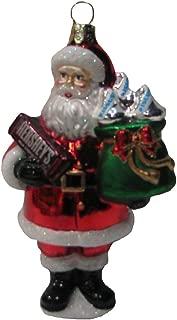 HERSHEY'S Kurt Adler Glass Santa Bar Ornament, 5-Inch