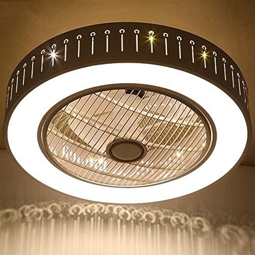 Ventilador de techo moderno 40W con iluminación, regulable DIRIGIÓ Luz de techo, control remoto de Ø58cm, ventilador ajustable Ventilador de techo, salón, dormitorio, dormitorio, lámparas de techo, lá