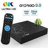 Android 8.1 TV Box Sidiwen A5X MAX 4 GB/32 GB RK3328 Quad Core 64 bits procesador Compatible 3D 4K Smart Ultra HD H.265 decodificación 2.4 GHz WiFi Ethernet Bluetooth 4.1 USB 3.0