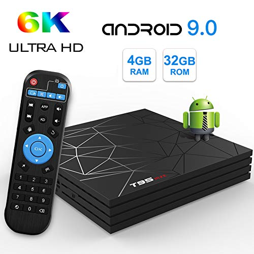 Android 8.1 TV Box Sidiwen A5X MAX 4 GB / 32 GB RK3328 Quad Core 64 Bit Prozessor unterstützt 3D 4K Smart Ultra HD H.265 Decoding 2,4 GHz WLAN Ethernet Bluetooth 4.1 USB 3.0