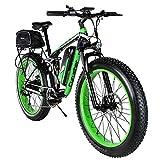 Extrbici Electric Bike 750w / 1500w Fat Tire Upgraded 7 Speed Beach Cruiser Completamente Sospesa Mountain...