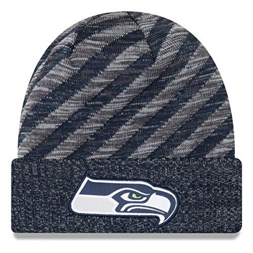 New Era Seattle Seahawks Beanie - NFL 2018 Sideline Sport Td Knit - Navy/Grey - One-Size
