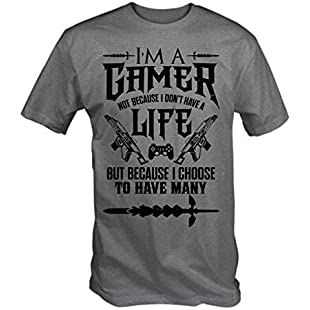 I'm a Gamer T Shirt (Grey , Medium)