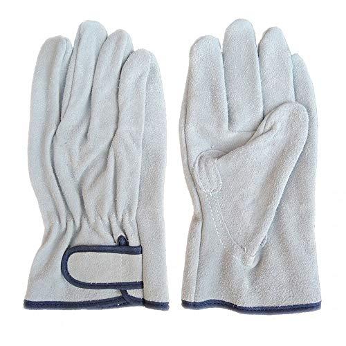ZMYY Guantes de trabajo de cuero para jardín, duraderos y flexibles, perfectos para mecánicos, embalaje, almacén de jardinería, 1 par