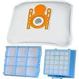 Set di filtri per aspirapolvere con 10 sacchetti per aspirapolvere + 1 filtro HEPA + 1 filtro di protezione motore adatto per Bosch BSG6 / Siemens VS06G