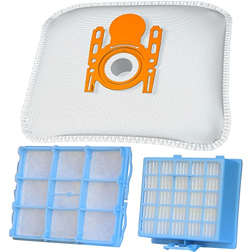10 Staubsaugerbeutel + 1 Hepa Filter + 1 Motorschutzfilter geeignet für Siemens VSZ 3 Serie Z 3.0