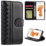 SumacLife Weave Design Wallet Case for Apple iPhone 6 Plus and 6S Plus