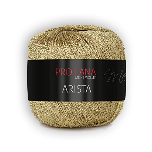 Pro Lana Arista - Filato di lurex metallizzato, colore 300 oro, 25 g
