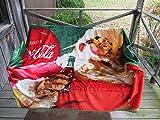 Forever Collectibles Coca-Cola Ultra Soft Micro Fleece Throw Blanket Santa Season's Greetings 72' x 55' Holiday Christmas