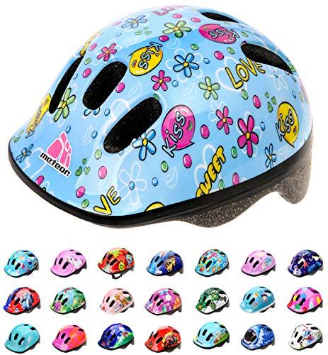 meteor-Kinder Fahrradhelm, Skaterhelm, Sicherheitshelm MV6-2 Size: XS 44-48cm 200g KISS Love