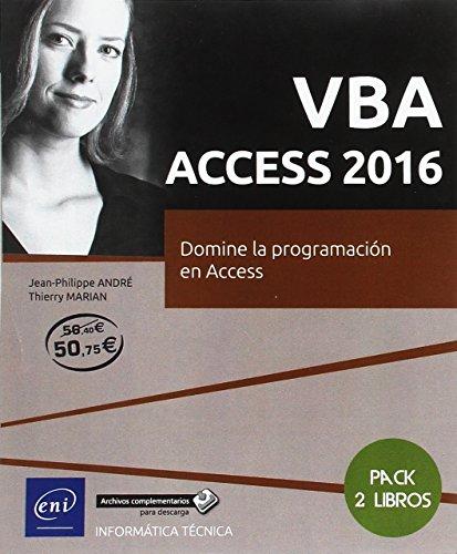 Pack:VBA Access 2016. Domine la programación en Access