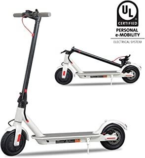 """Emaxusa Electric Scooter for Adults, UL Certified Portable Folding Motorized Scooter 8.5"""" Tires,300W Motor Propels,Max Speed of 15.8 MPH,Up to 18 Miles,Long Range Battery"""