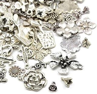 Charming Beads 30 Gramm Antik Silber Tibetanische Zufällige Mischung Charms Blume - HA07045 - Charming Beads