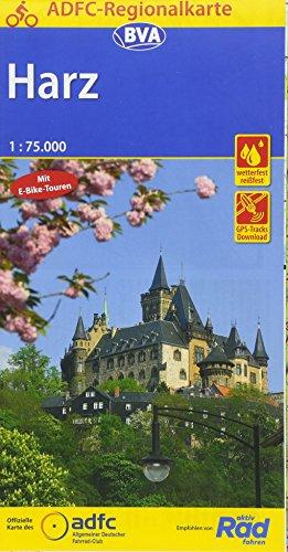 ADFC-Regionalkarte Harz, 1:75.000, reiß- und wetterfest, GPS-Tracks Download (ADFC-Regionalkarte 1:75000)