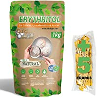 DULCILIGHT Eritritol Edulcorante 100% Natural 1 Kg con Cero Calorias + (5 sobres de obsequio Nuevo Edulcorante Moreno)...
