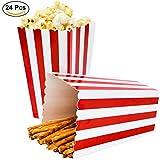 Ouinne Popcorn Boxen, 24 Stück Popcorn Boxes Candy Boxen Streifenmuster Dekoratives Geschirr für...