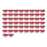 50 velas en forma de corazón sin humo velas velas de amor velas velas velas de corazón dulces perfumadas para cumpleaños, propuestas, bodas, fiestas