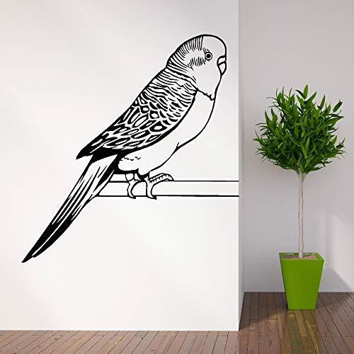 hetingyue vinylbehang, papegaaien, muurschildering, zelfklevend, links, rechts