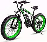 Bicicleta eléctrica Bicicleta eléctrica por la mon 26 pulgadas de nieve bicicletas, 48V 1000W de bicicletas de montaña eléctrica, 17.5AH litio ciclomotor, 4,0 Fat Tire Bike / Hard Tail Bicicleta / adu