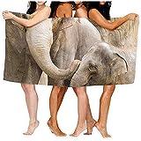 shenhaimojing Hoja De Baño Patrón De Elefantes, Sábanas De Baño, Lindo 100% Poliéster, Nadar, Toalla Grande, Cubierta 80X130Cm