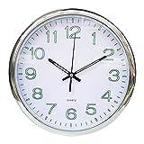 P Prettyia Reloj de Pared Luminoso 30cm Relojes Numéricos Digitales Oficina Dormitorio Cocina