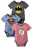 DC Comics Baby Boys' Infant Onesies Custome Bodysuit, 3Pack-Multicolor, 18 Months