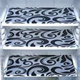 Paaroots PVC Fridge Mats Waterproof,Stain Resistant, Washable Placements Perfect for Kitchen,Fridge Drawer,Restraurant, Decoration,Table