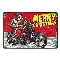 レトロメタルスズロゴレトロクリスマスウォールデコレーション、メリークリスマス、最高のクリスマス&ウィンターギフト8X12インチ