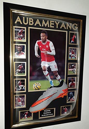WWW.SIGNEDMEMORABILIASHOP.CO.UK Pierre Emerick Aubameyang signierter Fußballschuh