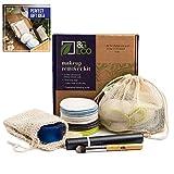 Almohadillas desmaquillantes reutilizables de bambú 16 Piezas + 2 bolsas de jabón de sisal + 1 bolsa de lavandería, ecológico
