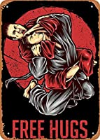 "RCY-T Sports Jiu Jitsu Martial Arts Wall Art 12""x 8"" 金属スズレトロヴィンテージサイン"
