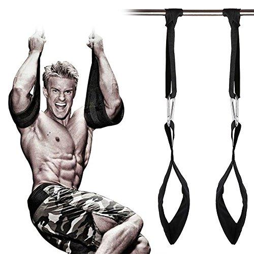 GroFitness, Bande elastiche da appendere, Per addominali o muscoli delle braccia, Cinture per trazioni, presse, crossfit, Attrezzatura da culturismo, Regolabili, #2
