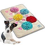 MIRAJO® Schnüffelteppich für Hunde groß, 100x60cm, mit Tierheimspende, Intelligenz fördernd, Suchteppich für Hunde, Schnüffelteppich Hund groß, Intelligenzspielzeug für Hunde, Beschäftigung