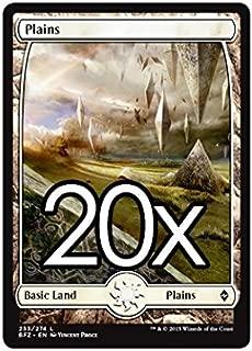 20 Battle for Zendikar Plains #253 Magic the Gathering Basic FULL ART Land Lot
