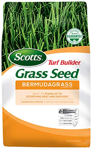 Scotts Turf Builder Grass Seed Bermudagrass, 10 lb. - Full Sun - Built to Stand up to Scorching Heat...