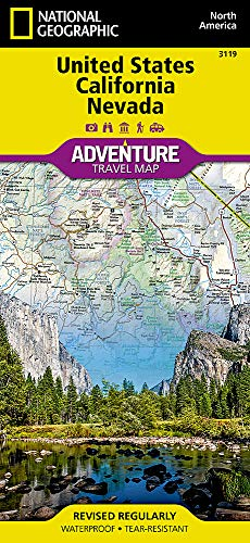 United States, California and Nevada (National Geographic Adventure Map, 3119)