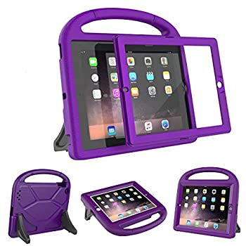 AVAWO Kids Case Built-in Screen Protector for iPad 2 3 4 (Old Model)- Shockproof Handle Stand Kids Friendly Compatible with iPad 2nd 3rd 4th Generation  Purple