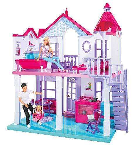 Simba - La Grande Casa di Steffi Love, Playset su Due Piani con Accessori, 4 stanze, 84 cm, 3 Anni, 104661996