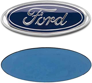 FORD 7 Inch Front Grille Tailgate Emblem, 3D Oval 3M Double Side Adhesive Tape Sticker Badge for Ford Escape Excursion Expedition Freestyle F-150 F-250 F350