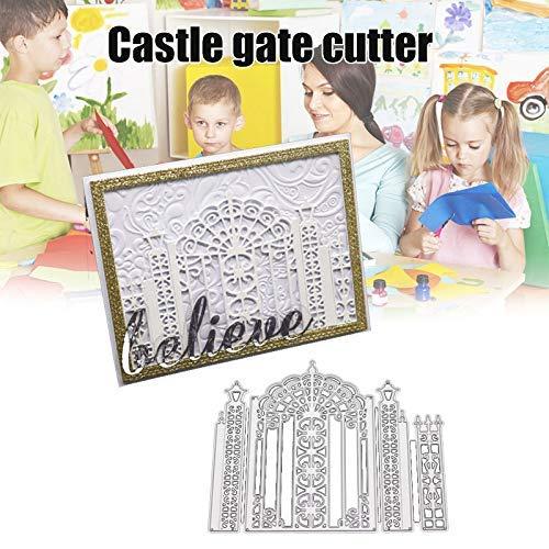 Baifeng Castillo Puerta Carbono Acero Corte Troqueles Papel de Scrapbooking Manualidades Textura Perforadora Plantilla Molde